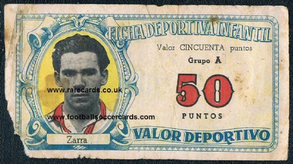 1943 Valverde play money Telmo Zarra